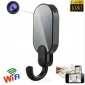 1080P HD WIFI wireless Spy night vision Clothes Hook Hidden Camera DVR Recorder